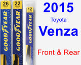 Front & Rear Wiper Blade Pack for 2015 Toyota Venza - Premium