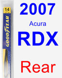 Rear Wiper Blade for 2007 Acura RDX - Rear
