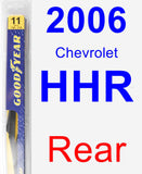 Rear Wiper Blade for 2006 Chevrolet HHR - Rear
