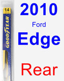 Rear Wiper Blade for 2010 Ford Edge - Rear