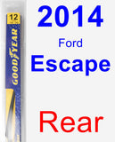 Rear Wiper Blade for 2014 Ford Escape - Rear