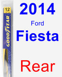 Rear Wiper Blade for 2014 Ford Fiesta - Rear
