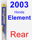 Rear Wiper Blade for 2003 Honda Element - Rear