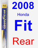 Rear Wiper Blade for 2008 Honda Fit - Rear