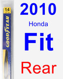 Rear Wiper Blade for 2010 Honda Fit - Rear