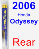 Rear Wiper Blade for 2006 Honda Odyssey - Rear