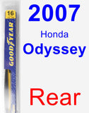 Rear Wiper Blade for 2007 Honda Odyssey - Rear