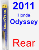 Rear Wiper Blade for 2011 Honda Odyssey - Rear