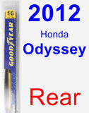 Rear Wiper Blade for 2012 Honda Odyssey - Rear