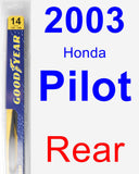 Rear Wiper Blade for 2003 Honda Pilot - Rear