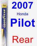 Rear Wiper Blade for 2007 Honda Pilot - Rear