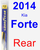 Rear Wiper Blade for 2014 Kia Forte - Rear