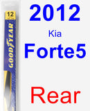 Rear Wiper Blade for 2012 Kia Forte5 - Rear