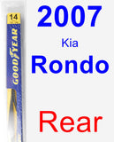 Rear Wiper Blade for 2007 Kia Rondo - Rear