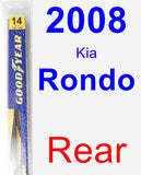 Rear Wiper Blade for 2008 Kia Rondo - Rear