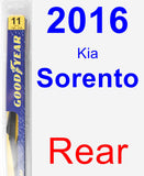 Rear Wiper Blade for 2016 Kia Sorento - Rear