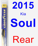 Rear Wiper Blade for 2015 Kia Soul - Rear