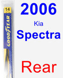 Rear Wiper Blade for 2006 Kia Spectra - Rear