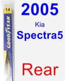 Rear Wiper Blade for 2005 Kia Spectra5 - Rear