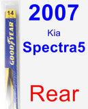Rear Wiper Blade for 2007 Kia Spectra5 - Rear