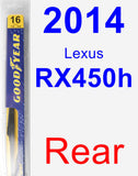 Rear Wiper Blade for 2014 Lexus RX450h - Rear