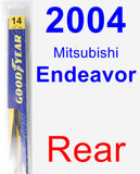 Rear Wiper Blade for 2004 Mitsubishi Endeavor - Rear