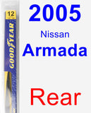 Rear Wiper Blade for 2005 Nissan Armada - Rear