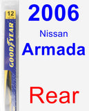 Rear Wiper Blade for 2006 Nissan Armada - Rear