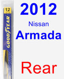 Rear Wiper Blade for 2012 Nissan Armada - Rear