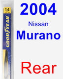 Rear Wiper Blade for 2004 Nissan Murano - Rear