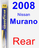 Rear Wiper Blade for 2008 Nissan Murano - Rear