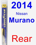 Rear Wiper Blade for 2014 Nissan Murano - Rear