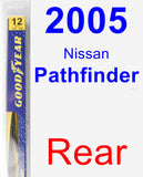 Rear Wiper Blade for 2005 Nissan Pathfinder - Rear