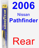 Rear Wiper Blade for 2006 Nissan Pathfinder - Rear