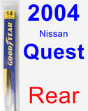 Rear Wiper Blade for 2004 Nissan Quest - Rear