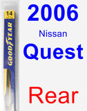 Rear Wiper Blade for 2006 Nissan Quest - Rear