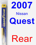 Rear Wiper Blade for 2007 Nissan Quest - Rear