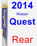 Rear Wiper Blade for 2014 Nissan Quest - Rear