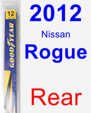 Rear Wiper Blade for 2012 Nissan Rogue - Rear