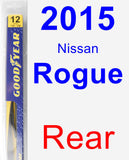 Rear Wiper Blade for 2015 Nissan Rogue - Rear