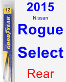 Rear Wiper Blade for 2015 Nissan Rogue Select - Rear