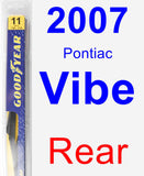 Rear Wiper Blade for 2007 Pontiac Vibe - Rear