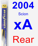 Rear Wiper Blade for 2004 Scion xA - Rear