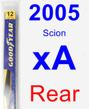 Rear Wiper Blade for 2005 Scion xA - Rear