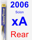 Rear Wiper Blade for 2006 Scion xA - Rear