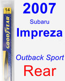Rear Wiper Blade for 2007 Subaru Impreza - Rear