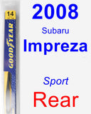 Rear Wiper Blade for 2008 Subaru Impreza - Rear