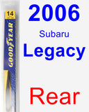 Rear Wiper Blade for 2006 Subaru Legacy - Rear