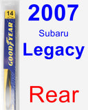 Rear Wiper Blade for 2007 Subaru Legacy - Rear