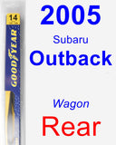 Rear Wiper Blade for 2005 Subaru Outback - Rear